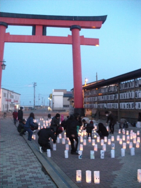 野田村の灯り
